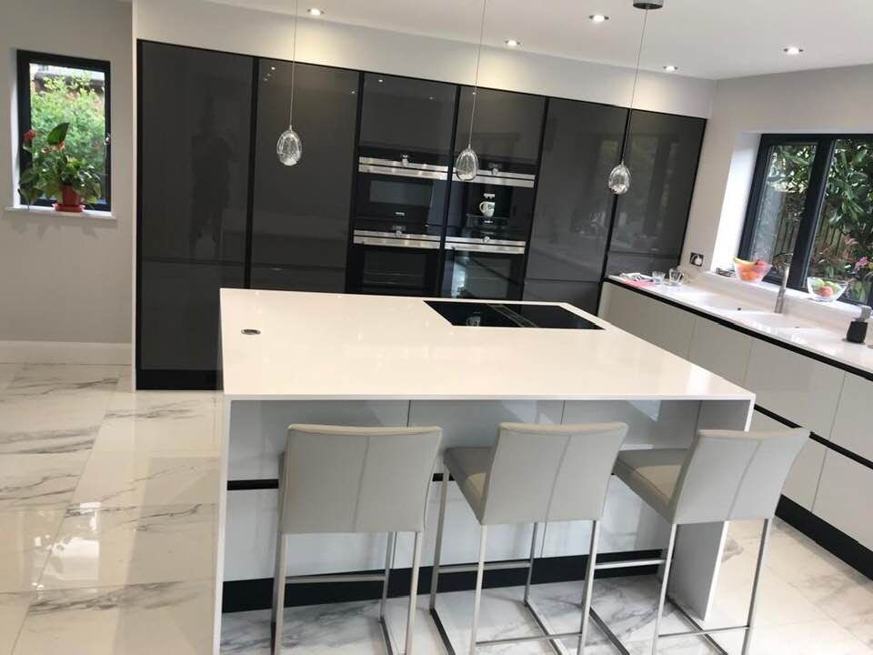 White quartz fitted to a home in Kent.
