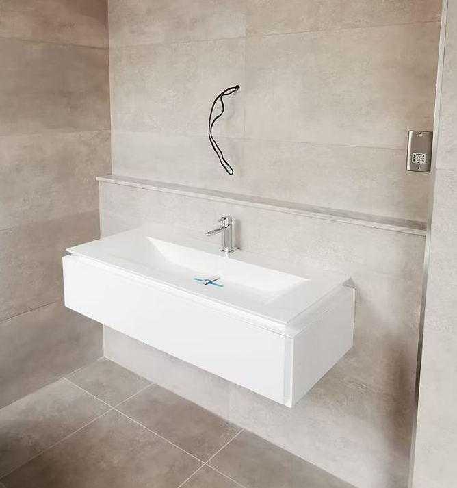 Marble Bath fitted into a bathroom in Kent